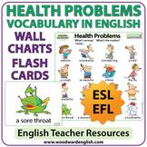 Health Problems English Vocabulary - ESL Wall Charts - Fla