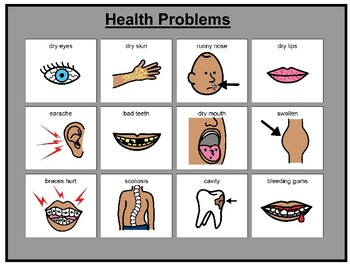 Health Problems Matching Board Game!