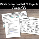 Middle School Health Projects Bundle