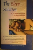 Health Psychology THE SLEEP SOLUTION 21-Night Program for Restful Sleep SHIPincl