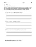 Health Quiz-Smoking, Drugs, and Alcohol