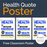 Health Quote Poster // Classroom Poster // Classroom Decor // Health