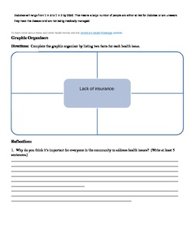 Health Ranking Article with Graphic Organizer/ Short Answer Question