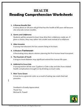Health, Reading Comprehension