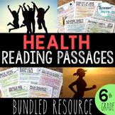 Health Reading Passages | Middle School | Upper Elementary Bundle