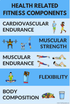 Health Related Components of Fitness Poster for PE Class ...