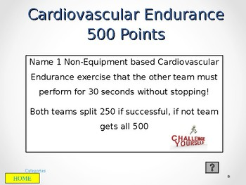 Health Related Fitness Jeopardy