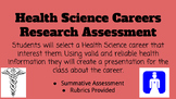 Health Science Careers Research Assessment