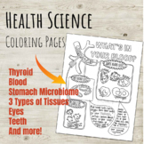 Health Science and Biology Coloring Page Series!