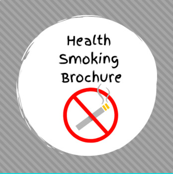 Health Smoking Brochure with Rubric