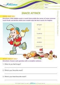 Health - Snack Attack - Grade 3