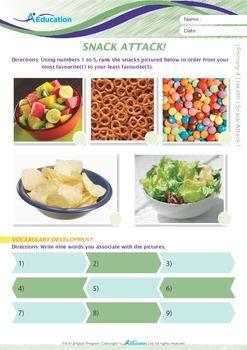Health - Snack Attack - Grade 4