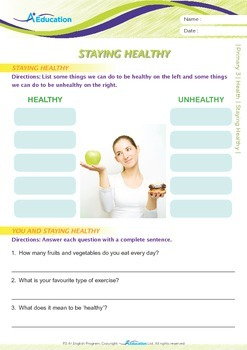 Health - Staying Healthy - Grade 3