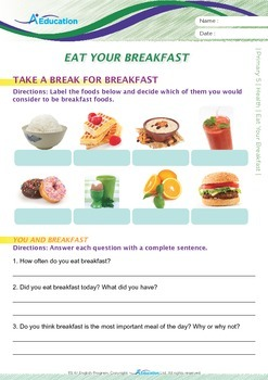 Health - Eat your breakfast - Grade 5