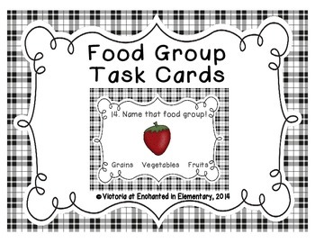 Health Task Cards: Food Groups