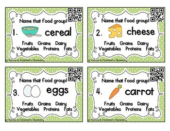 Health Task Cards: Food Groups Set 2