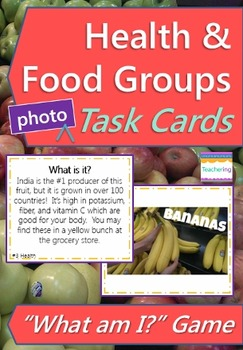 Health Task Cards with PHOTOS