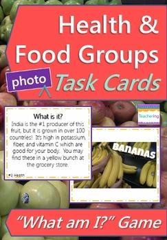 Health Task Cards with PHOTOS