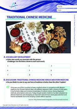 Health - Traditional Chinese Medicine - Grade 12