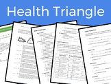 Health Triangle Lesson – Includes lesson plan, notes, activity, and homework