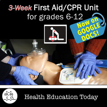 First Aid Unit for Distance Learning: 16 FUN, Interactive First Aid/CPR Lessons