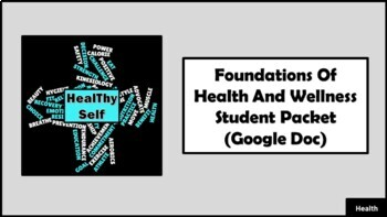 Unit 1: Foundations Of Health And Wellness Student Packet (Google Doc)