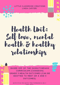 Health Unit: Self love, Mental Health & Healthy Relationships