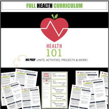 Health Units & Lessons: Full Year / Semester Curriculum for Middle / High School