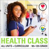Health Curriculum: Full Year / Semester for Middle / High School: All Units!