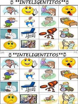 Health Vocabulary Activities & Games Unit in Spanish (La Salud)