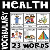 Health Vocabulary Word Posters