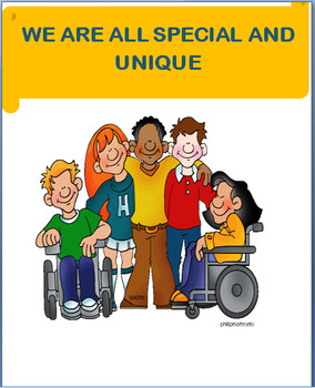 """""""We All Are Special and Unique"""" Lesson, writing prompt, art activity"""