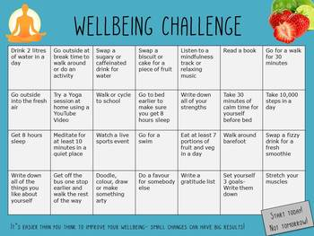 Health & Wellbeing Challenge Card