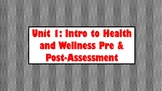 Health & Wellness Unit Pre-Assessment