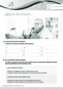 Health - Why Do We Shiver - Grade 8