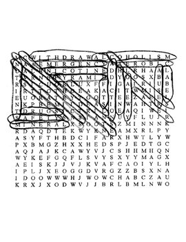 Health Wordsearch with Key