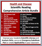 Health and Disease - Grade 8 and Up - Science Reading Article Bundle