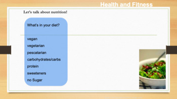 Health and Fitness PPT for ESL Teachers and Students
