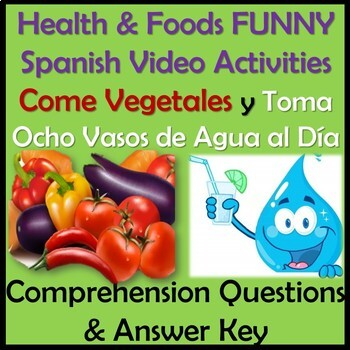 Health and Foods Funny Video Activities in Spanish