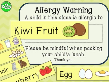 Health, Hygiene and Allergies posters and labels
