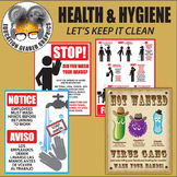 Health and Hygiene Volume 1 Signs clip art for classroom a