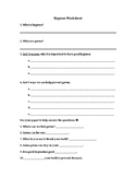 Health and Hygiene Worksheet