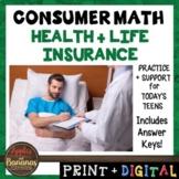 Health and Life Insurance - Consumer Math Unit (Notes, Pra
