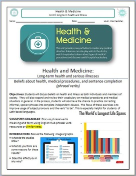 Health and Medicine (Unit C Packet): Long-term Health & Il