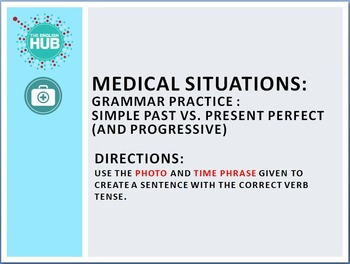 Health and Medicine (A): Past and Present Perfect practice  (Adult ESL)