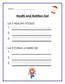 Health and Nutrition Test