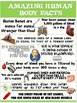 Health and Science Poster: Amazing Human Body Facts
