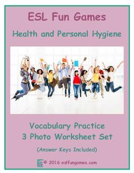 Health and Personal Hygiene 3 Photo Worksheet Set