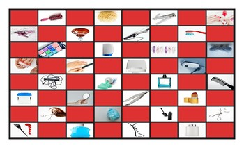 Health and Personal Hygiene Legal Size Photo Checkerboard Game