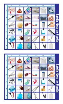 Health and Personal Hygiene Spanish Legal Size Photo Battleship Game